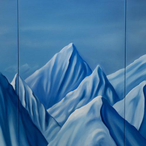 """""""Der ewige Winter"""" Triptychon, 3x50x70cm (150x70cm), 2021"""