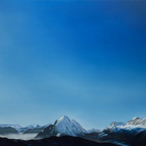 """""""Mundeblau"""", 100x70cm, 2021"""